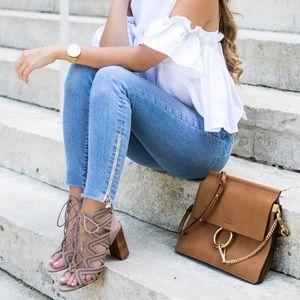 1. State 'Kayley' gladiator lace up sandal heels